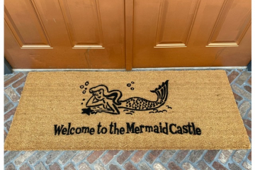 Doublewide XL Mermaid- What up fishes?!™ doormat