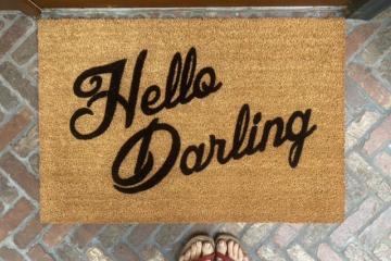 Hello Darling! Vanderpump Rules boho style Bravo TV doormat