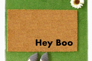 Hey Boo- custom for Tracey funny doormat