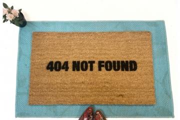 404 not found funny computer internet error code doormat