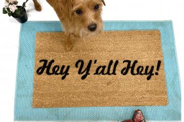 Hey Y'all Hey sweet boho doormat