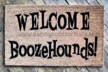 Welcome Boozehounds! doormat