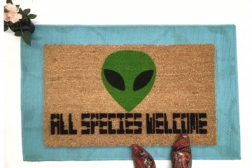 Alien All species Halloween Welcome doormat