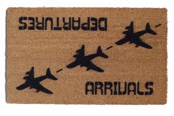 Arrival Departure funny aviation doormat