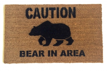 CAUTION! Bear in area! doormat