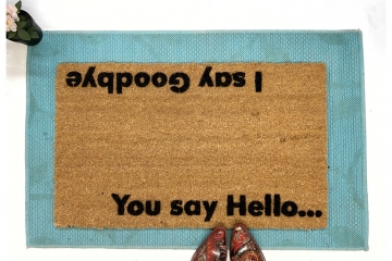 You say hello, I say goodbye Beatles doormat