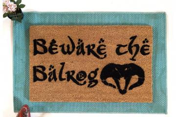 Beware the Balrog Tolkien doormat.