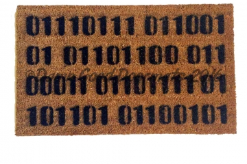 Computer language Binary Welcome nerd doormat