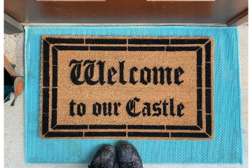 Welcome to our Castle Fairy Tale doormat