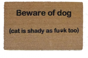 Cat is shady at f*ck funny cat lover doormat