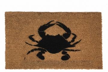 Chesapeake Bay blue crab nautical home decor beach house doormat