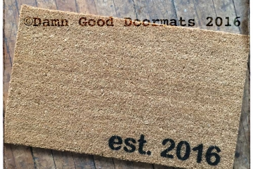 Established date doormat custom year