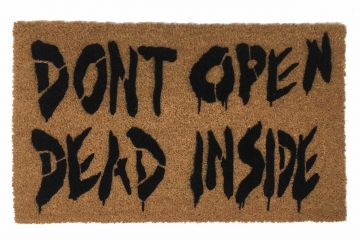 Don't Open Dead inside Halloween ZOMBIE Walking dead Gothic home decor doormat