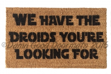 Star Wars WE have the droids you're looking for™ Obi Wan funny nerd doormat