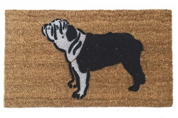 english bulldog dog pet portrait doormat