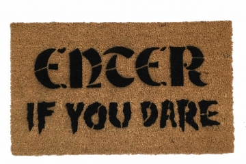 Enter- if you DARE spooky Halloween doormat