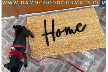 Cursive Home doormat
