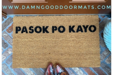 Filipino Pasok po kayo please come in welcome doormat