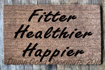 zen Fitter Healthier Happier doormat