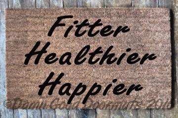 zen Fitter Healthier Happier doormat