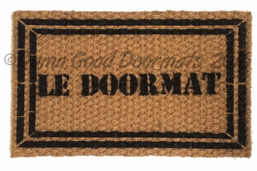 le doormat french generic with border
