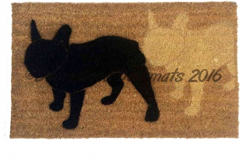 2 Frenchie's Doormat french bulldog