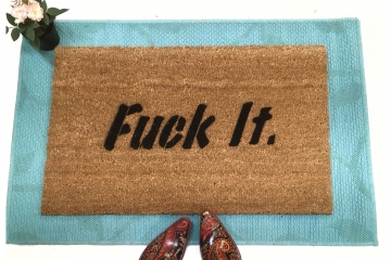 fuck it funny rude boyfriend gift doormat