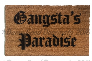 Gangsta's Paradise coolio doormat