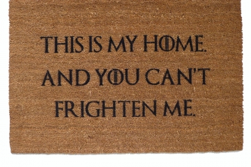 sansa stark, this is my home ,frighten, game of thrones, door mat, doormat, got