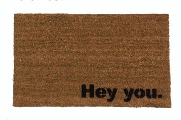 Hey you. funny doormat