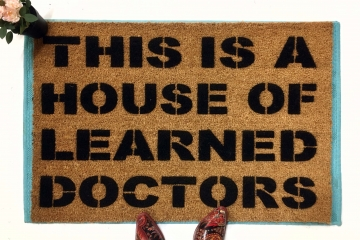 House of Learned Doctors™ Stepbrothers funny doormat