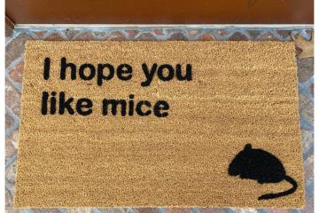 I hope you like MICE doormat