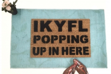 IKYFL doormat- I Know you Feel Like Popping Up in Here- nope.
