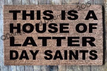 LDS House of Latter Day Saints door mat