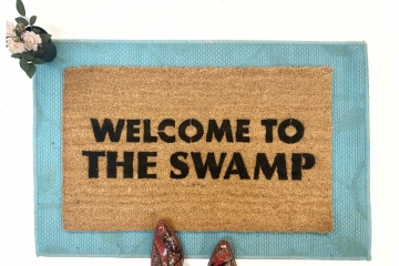 Welcome to THE SWAMP dump trump doormat drain the swamp political humor doorma