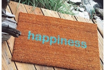 zen  happiness doormat welcome