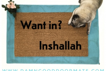 Inshallah funny Arabic Welcome doormat