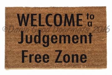 judgement free zone doormat