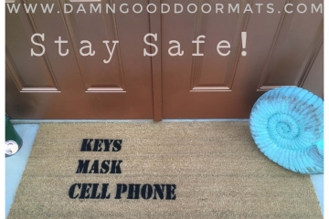`KEYS MASK CELL PHONE™ doormat stay safe covid 19