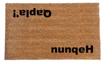Klingon hello goodbye nuneqeH Qapla'! star trek nerdlife nerdy doormat   nuqneH