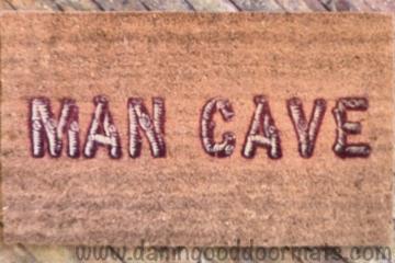 man cave wood log funny doormat