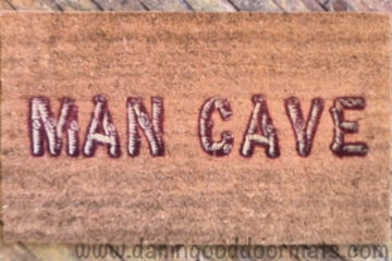 man cave wood log funny doormat