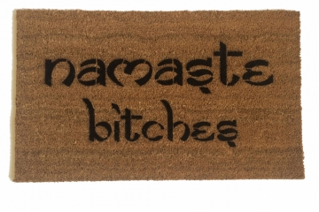 namaste bitches doormat