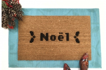 Nerdy New Year Noel doormat