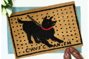 NEW cave canem pompeii beware of dog doormat