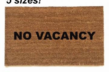 NO VACANCY™ funny doormat
