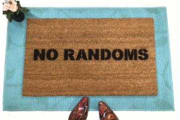 no randoms™ doormat