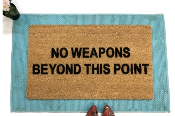 no weapons beyond this point  second amendment gun safety damn good doo
