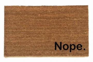 Nope. funny rude doormat
