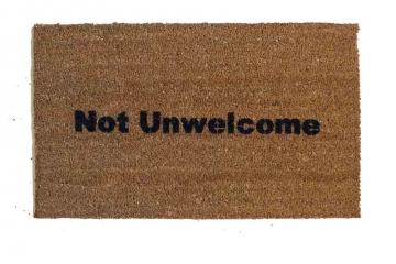 Not Unwelcome ™ funny welcome doormat